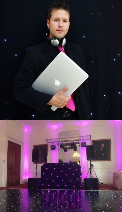 DJ Greg and his equipment