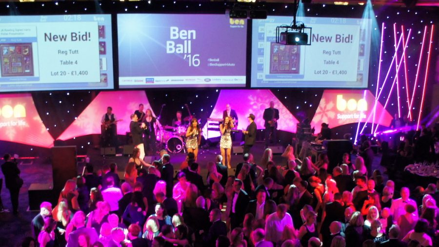 Delighted clients at The Ben Ball